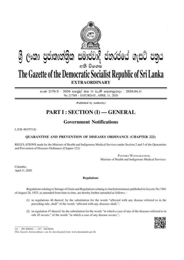 Sri Lankan Government made cremation compulsaory for all victims of the virus, becoming the only country in the world to do so