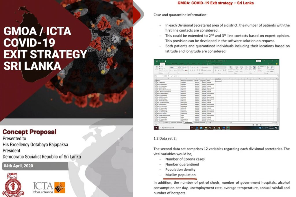 """The GMOA have presented their Covid19 exit strategy in which they have identified the Muslim population in each DS area as a """"risk factor"""" and a variable to track COVID risk 1/4"""