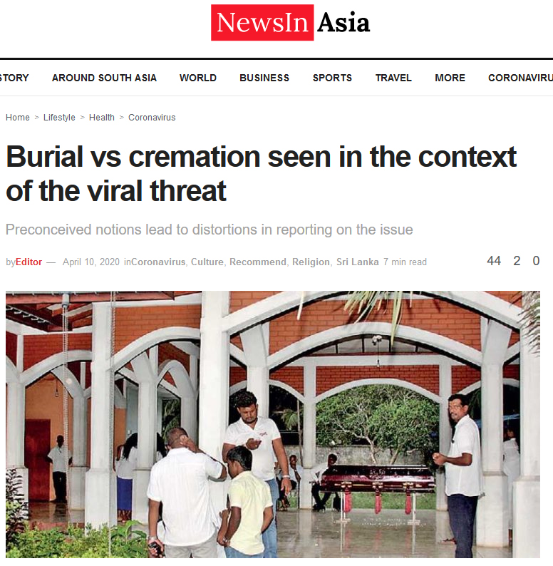 Burial vs cremation seen in the context of the viral threat – NewsIn Asia